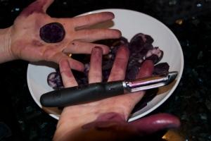 Blå fingre